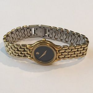 Movado Gold Museum Watch Ladies New Battery